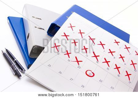Counting down to the event day - Busy month at work - Calendar 2016 - Pin the event day