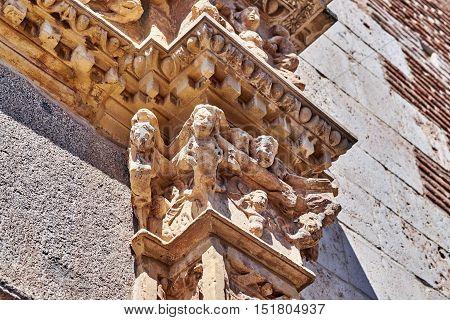 Images of old neighborhoods of Alcala de Henares, Spain