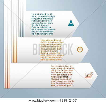 Design elements business presentation template. Vector illustration style infographics web banners charts and graphs and tables on dark background with glow light effect. EPS 10