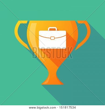 Long Shadow Gold Award Cup With  A Briefcase