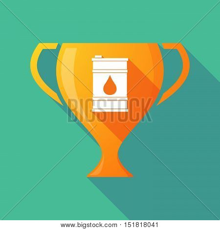 Long Shadow Gold Award Cup With A Barrel Of Oil
