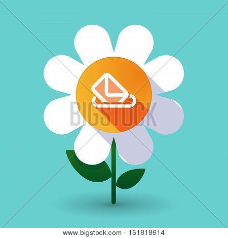 Long Shadow Daisy Flower With  A Ballot Box