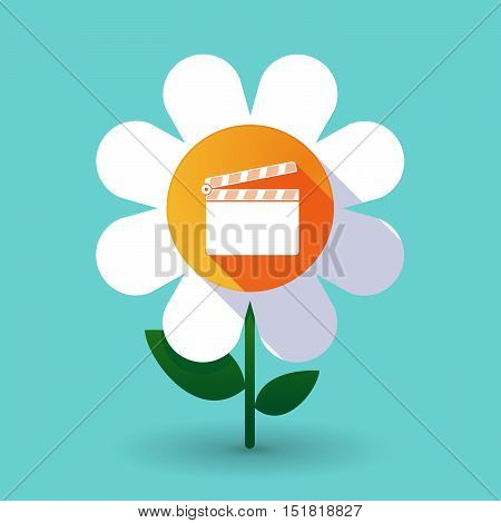 Long Shadow Daisy Flower With A Clapperboard