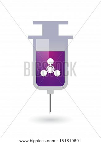 Isolated  Syringe With A Chemical Weapon Sign