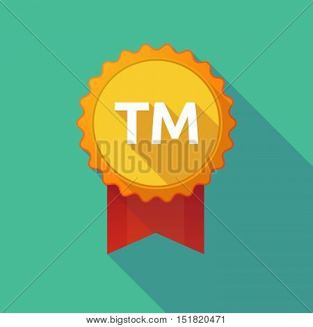 Long Shadow Badge With    The Text Tm