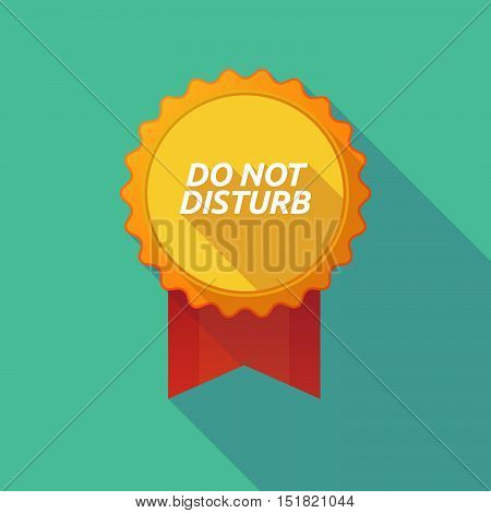 Long Shadow Badge With    The Text Do Not Disturb