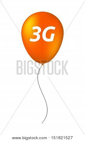 Isolated Balloon With    The Text 3G