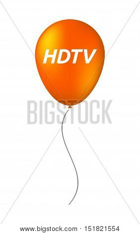 Isolated Balloon With    The Text Hdtv