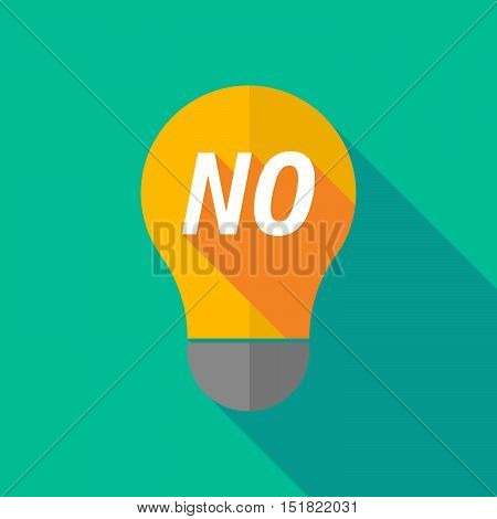 Long Shadow Light Bulb Icon With    The Text No
