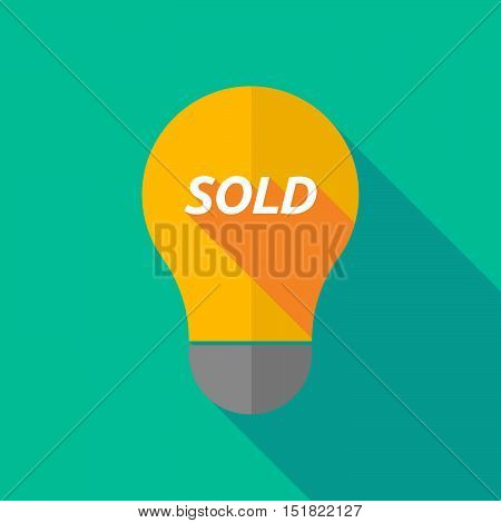 Long Shadow Light Bulb Icon With    The Text Sold