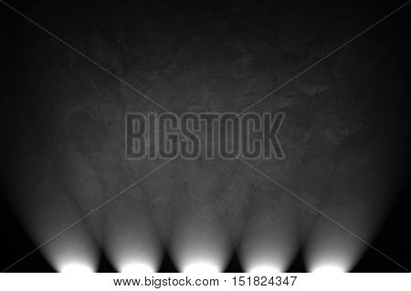 concrete wall with spotlight background