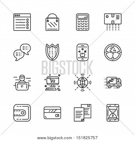 Simple set of online pay related vector icons eps 10