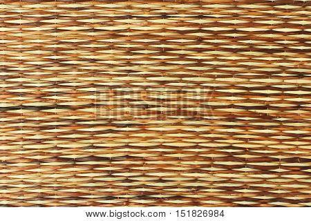 Handmade Straw Mat Pad Horizontal Texture Background