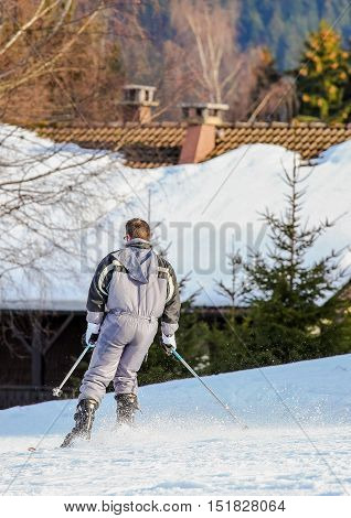 Gerardmer, France - Feb 16- Closeup On Skier During The Annual Winter School Holiday On Feb 16, 2015