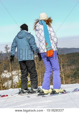 Gerardmer, France - Feb 17- Closeup On Skiers During The Annual Winter School Holiday On Feb 17, 201