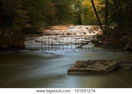 Waterfall On Muddy Creek Near Albright Wv