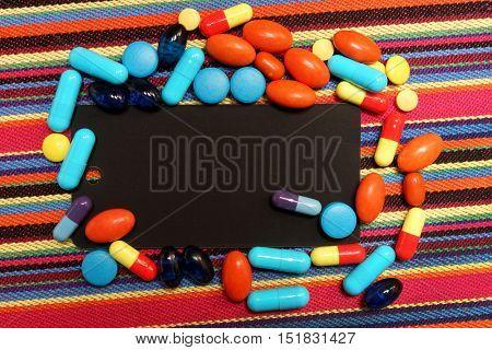 Medical tablet. Creative