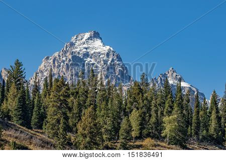 a scenic landscape of the Tetons in Wyoming