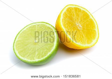 studio shot of lime solated on white background
