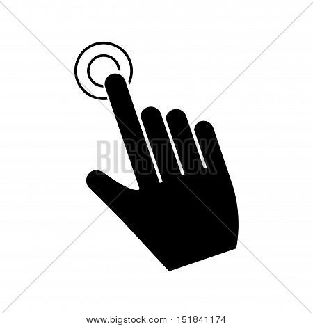 Cursor touch icon. Web pointer mouse and click theme. Isolated design. Vector illustration