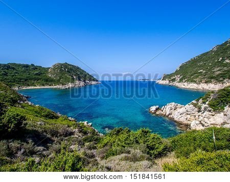Porto Timoni beach on Corfu Greek island