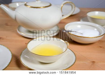 photo of an old fashioned tea service