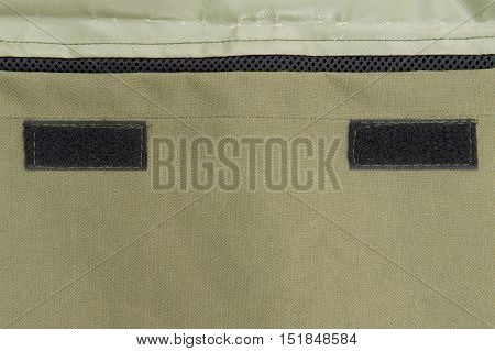 Close-up Texture Of Soldier Vest And Velcro Of Behind Bag