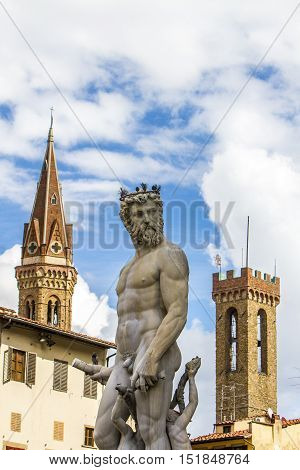 Detail From Fountain Of Neptune In Florence