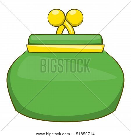 Purse icon. Cartoon illustration of purse vector icon for web