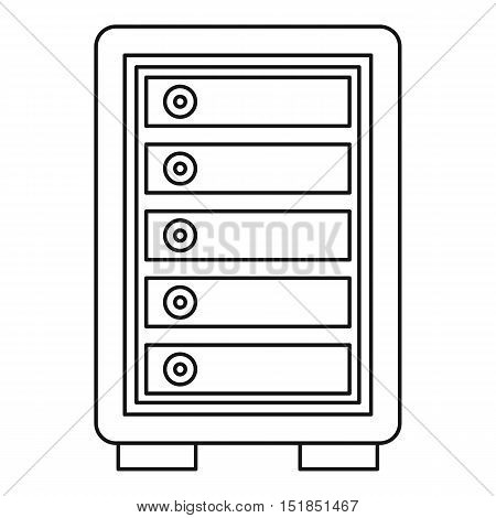 Security safe locker icon. Outline illustration of security safe locker vector icon for web