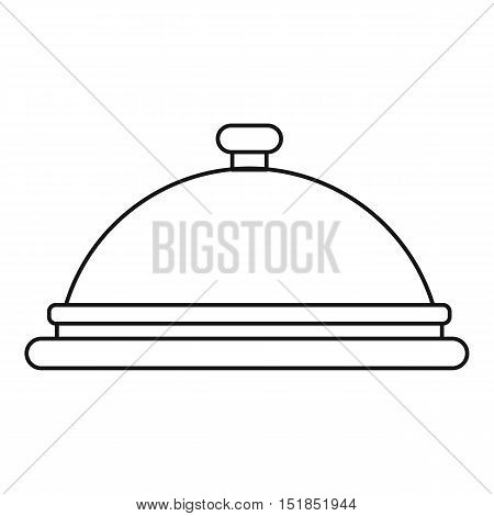 Cloche icon. Outline illustration of cloche vector icon for web