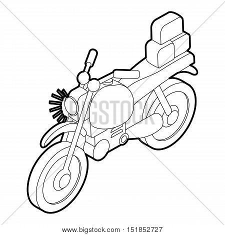 Motorcycle with cargo icon. Isometric 3d illustration of motorcycle vector icon for web