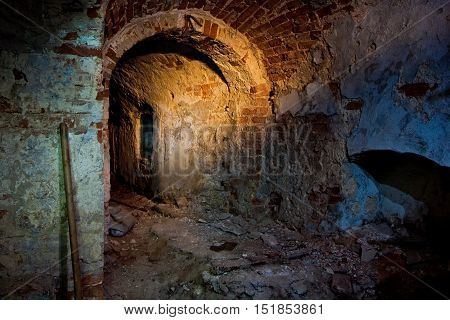 Old cellar under old manor in Voronezh