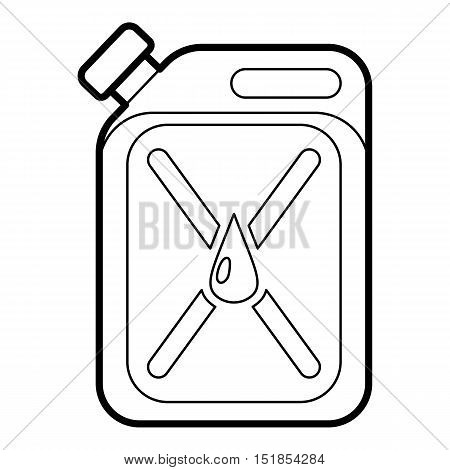 Jerycan icon. Outline illustration of jerrycan vector icon for web