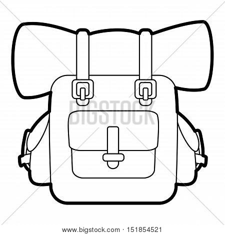 Backpack icon. Outline illustration of backpack vector icon for web