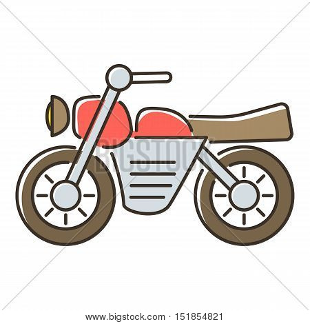 Motorcycle icon. Flat illustration of motorcycle vector icon for web