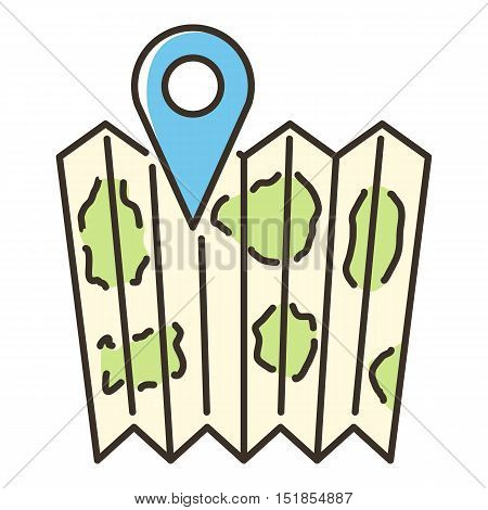 Location map icon. Flat illustration of location map vector icon for web