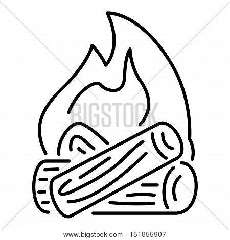 Burning bonfire icon. Outline illustration of burning bonfire vector icon for web