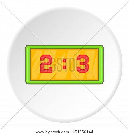 Scoreboard icon. Cartoon illustration of scoreboard vector icon for web