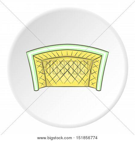 Soccer goal icon. Cartoon illustration of soccer goal vector icon for web