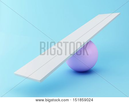 3D Illustration. Empty seesaw balance. Business concept.