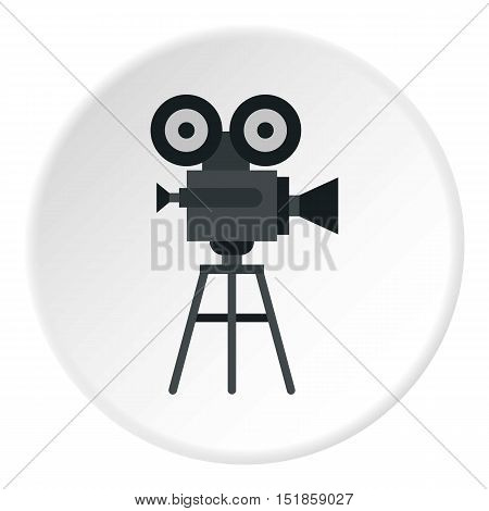 Retro film camera icon. Flat illustration of film camera vector icon for web design