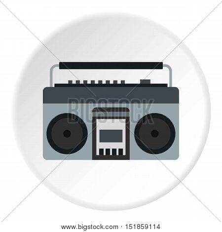 Retro tape recorder icon. Flat illustration of tape recorder vector icon for web design