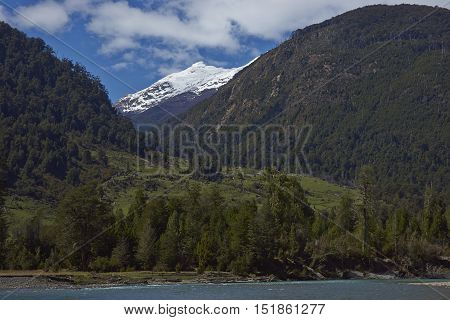 Rural landscape along the Carratera Austral in the Aysen Region of southern Chile.