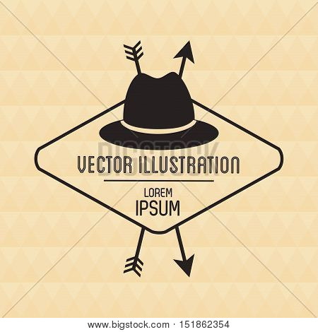 Hat icon. Hipster style vintage retro fashion and culture theme. Colorful design. Vector illustration