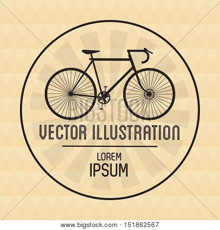 Bike icon. Hipster style vintage retro fashion and culture theme. Colorful design. Vector illustration