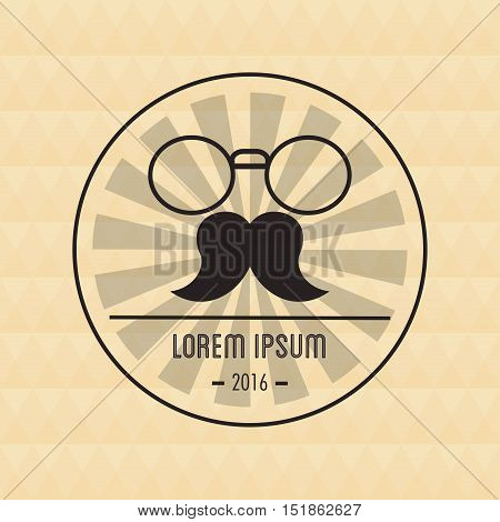 Mustache and glasses icon. Hipster style vintage retro fashion and culture theme. Colorful design. Vector illustration