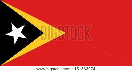 East Timorese national official flag. Patriotic symbol banner element background. Accurate dimensions. Flag of East Timor in correct size and colors vector illustration