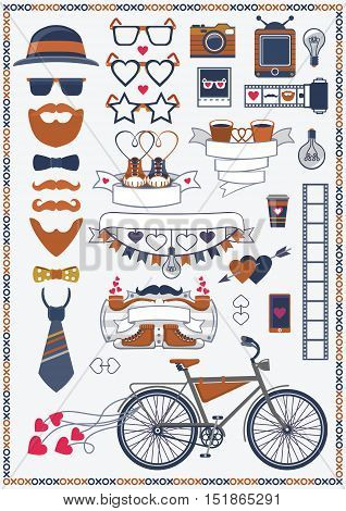 isolated, decoration, mustache, badges, stamp, ornament, monochrome, arrow, sign, vector, symbol, lightbulb, graphic, old, borders, bike, authentic, shoes, emblem, insignia, beard, modern, hearts, templates, sneakers, retro, frames, trendy, labels, qualit