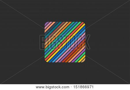 Creative lines logo. Square logo. Colorful logo design